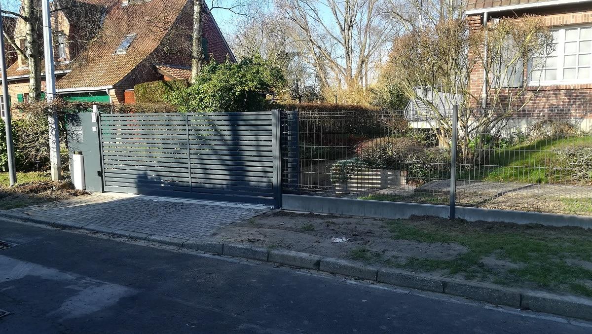Pose d'un portail à Marcq en Baroeul (59)