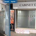 rénovation local commercial cabinet avocat devanture Saint-Etienne