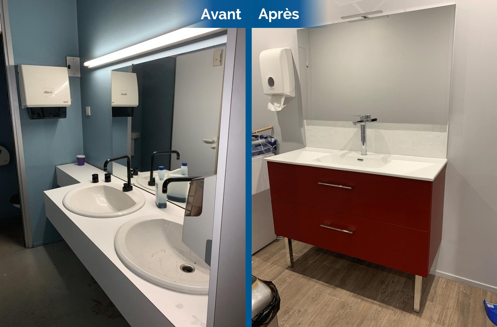 Avant/après d'une rénovation de local commercial à Saint-Etienne (42)