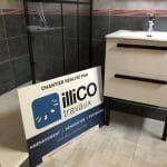 rénovation salle de bain douche receveur extra large paroi verrière meuble vasque Pays Voironnais