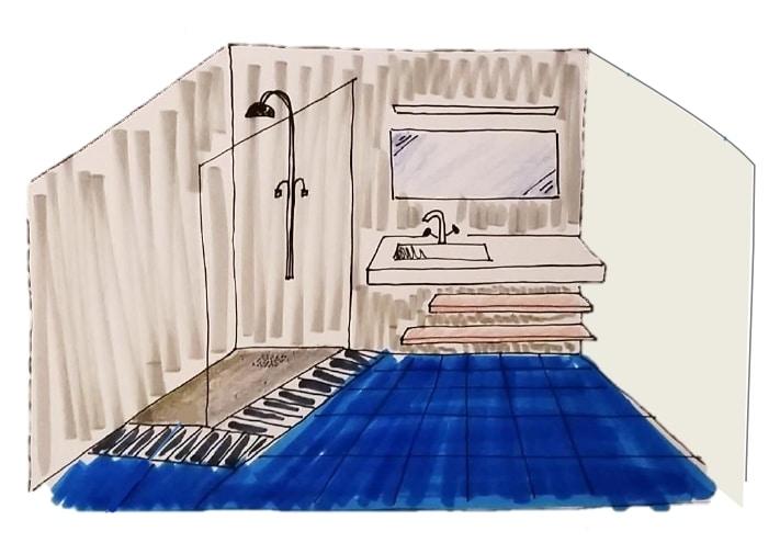 Avant/après d'une rénovation de salle de bain à La Roche-sur-Yon (85)