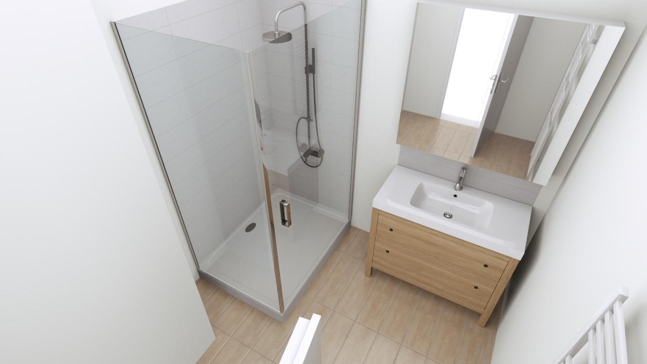 Rénovation complète d'une salle d'eau à Verlinghem (59)