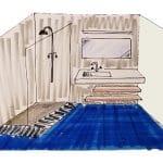 rénovation salle de bain croquis client La Roche-sur-Yon