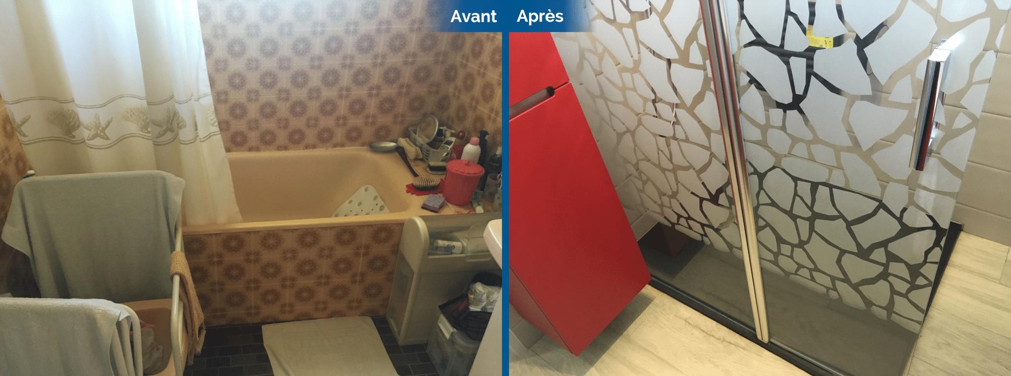 Carrelage Sol Avant Ou Apres Receveur avant/après d'une rénovation de salle de bain et de wc à saint-avé (56)