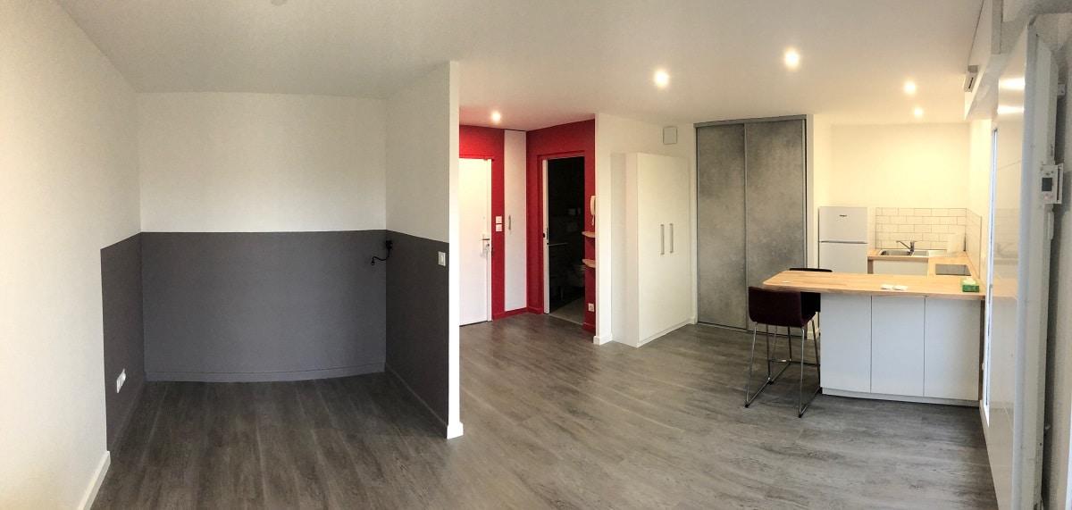 Rénovation d'un studio à Lyon (69)