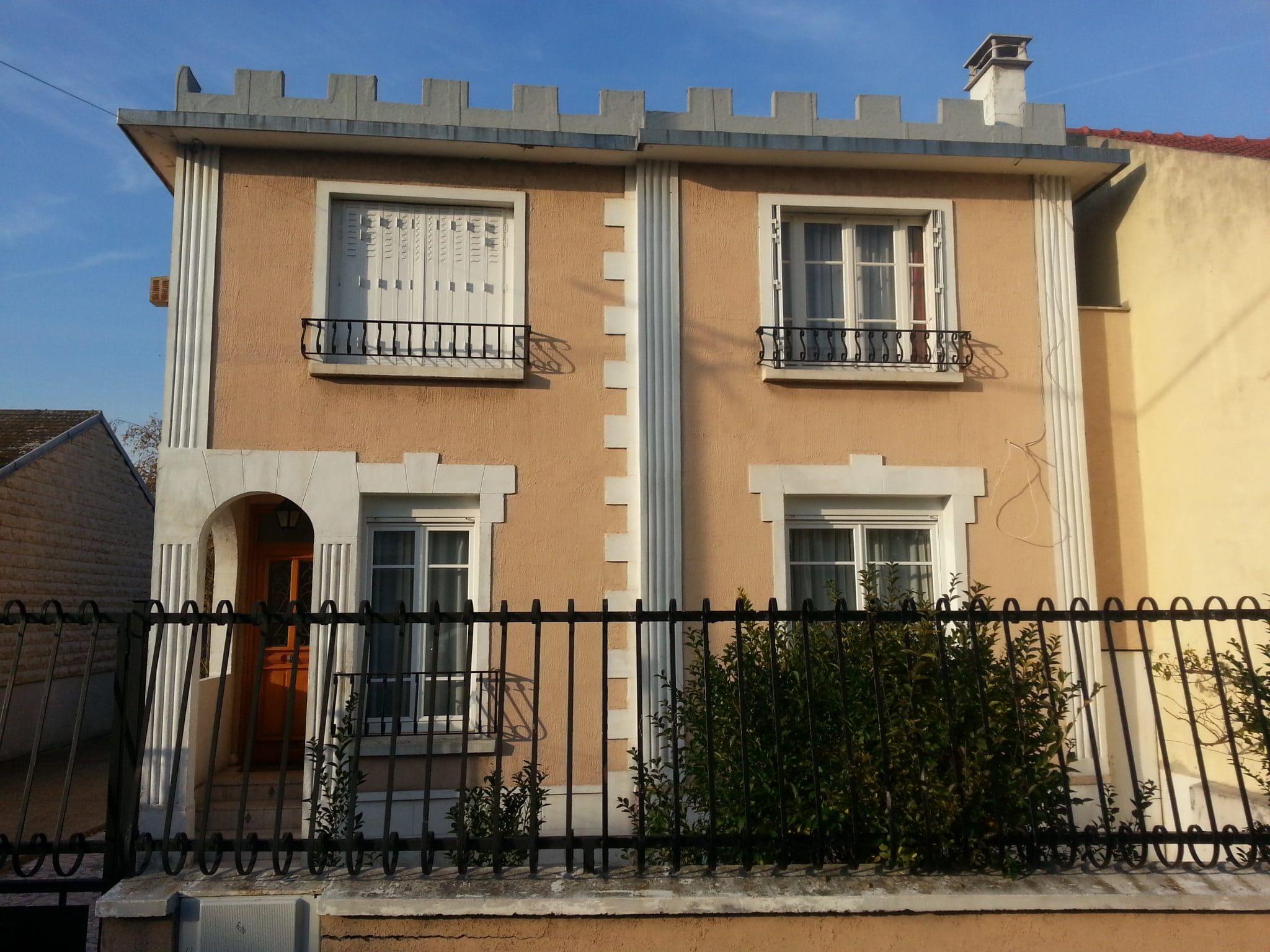 Travaux de ravalement de façade pour une maison à Bezons (95)