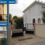 rénovation ravalement façade maison avant après enduit peinture Bezons