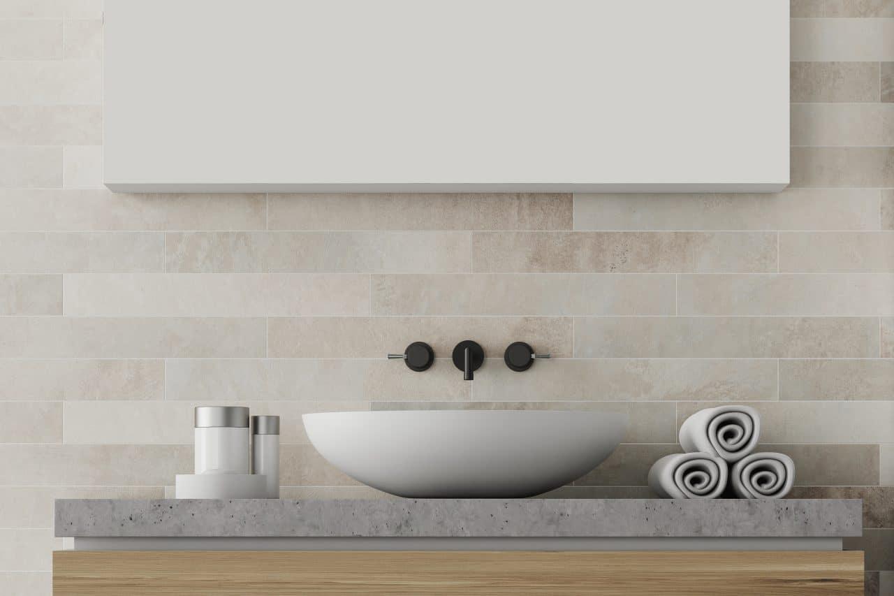 faïence salle de bain mur humidité lavabo plan de vasque meuble robinetterie