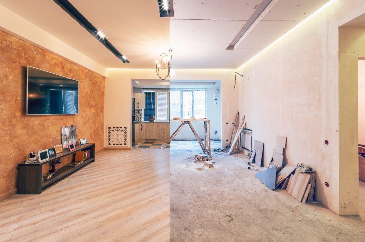 Avant après rénovation appartement à Montpellier