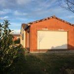 Extension de maison à Paulhac : vue sur l'extension avant crépis