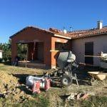 Extension de maison à Paulhac : travaux en cours