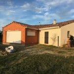 Extension de maison à Paulhac : vue générale avec extension