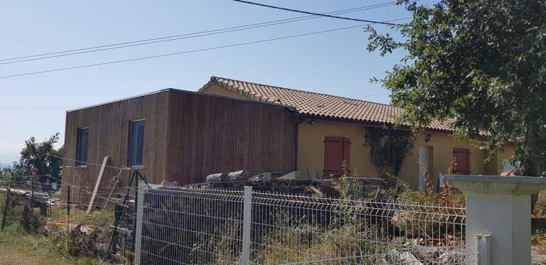 Création d'une extension en bois au Fousseret (31)