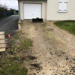 aménagement extérieur près de Tours : avant travaux