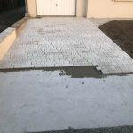 aménagement extérieur près de Tours : pavement sur dallage