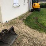 aménagement extérieur près de Tours : mise en place des engins de chantier