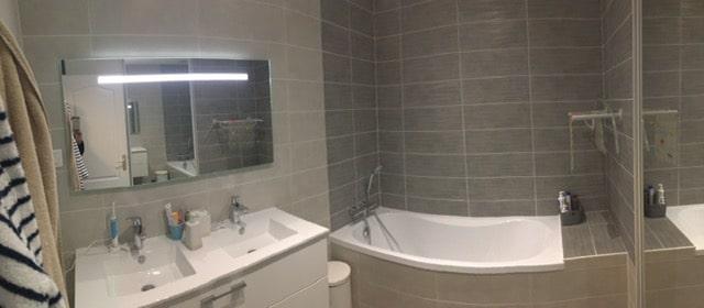 Transformation d'une salle de bain à Orvault (44)