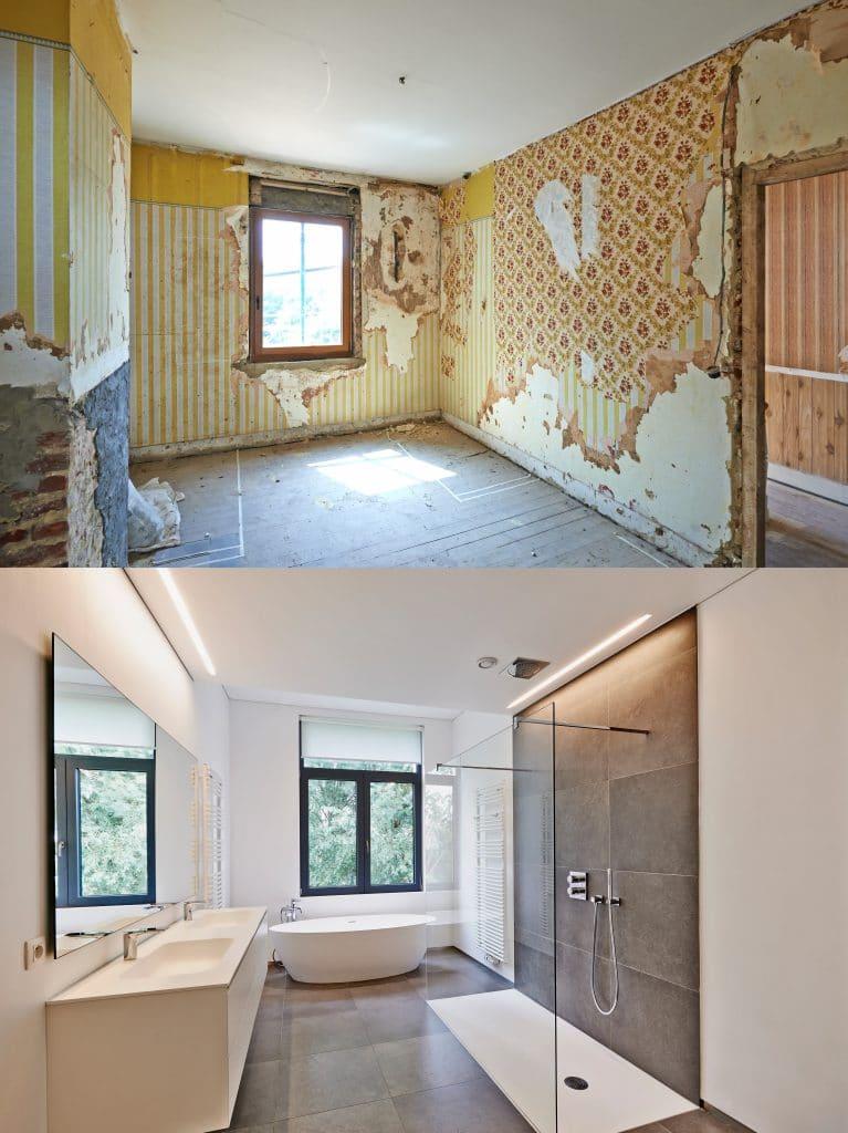 Rénovation murs salle de bain