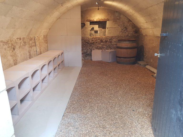 Rénovation d'une cave à Maze-Milon (49)