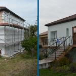 isolation thermique par l'exterieur ITE avant après façade maison isolant Jarny