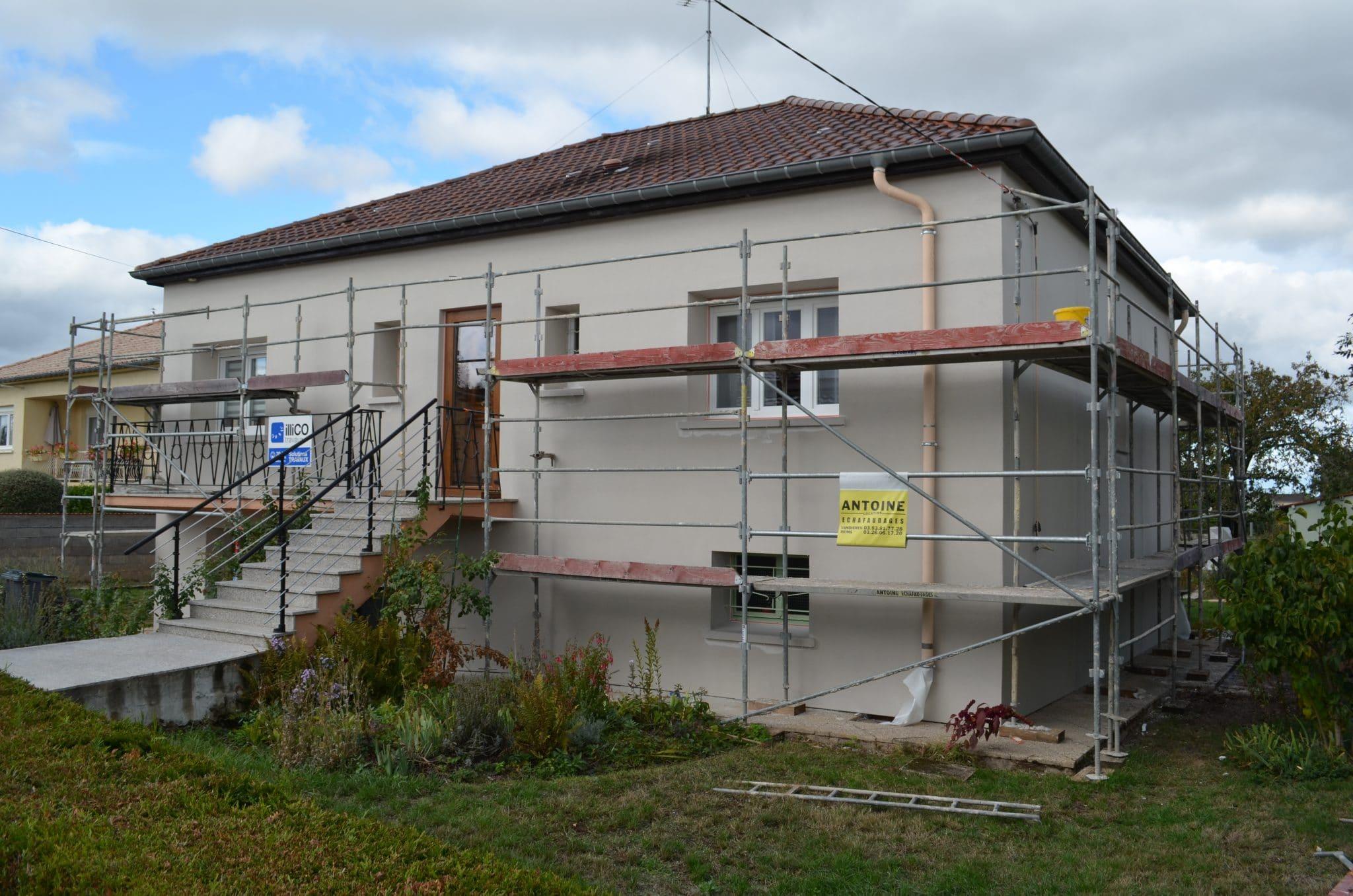 Isolation thermique par l'extérieur (ITE) à Jarny (54)