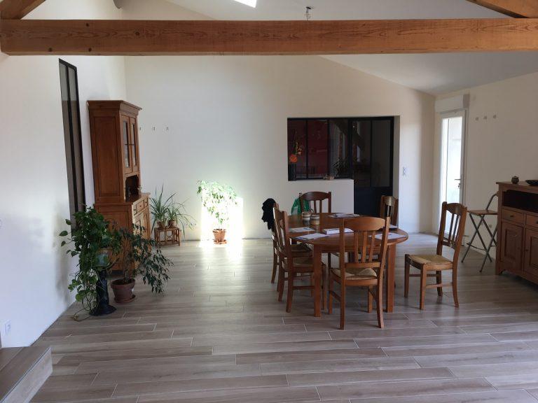 Rénovation d'une grange avec brique ancienne à Lapeyrouse Fossat (31)