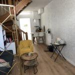 rénovation intérieure appartement parquet stratifié peinture papier peint escalier Grenoble