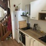 rénovation intérieure appartement cuisine aménagée scandinave placard rangement four plaque à induction Grenoble