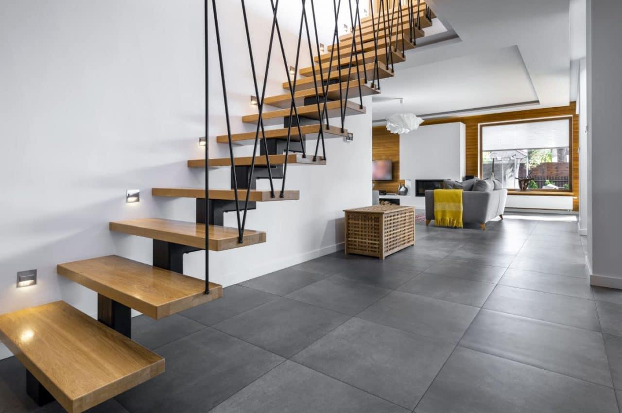 Rénovation de maison à Amiens - entrée et escalier