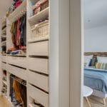 rénovation maison corps de ferme chambre dressing Bouguenais