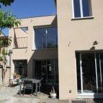 rénovation maison aménagement extérieur façade crépi baie-vitrée étage Toulouse
