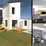 rénovation maison plan 3D extérieur intérieur aménagement salon Toulouse