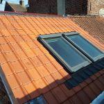 Aménagement terrasse toit plat Armentières : fenêtre d'accès au toit