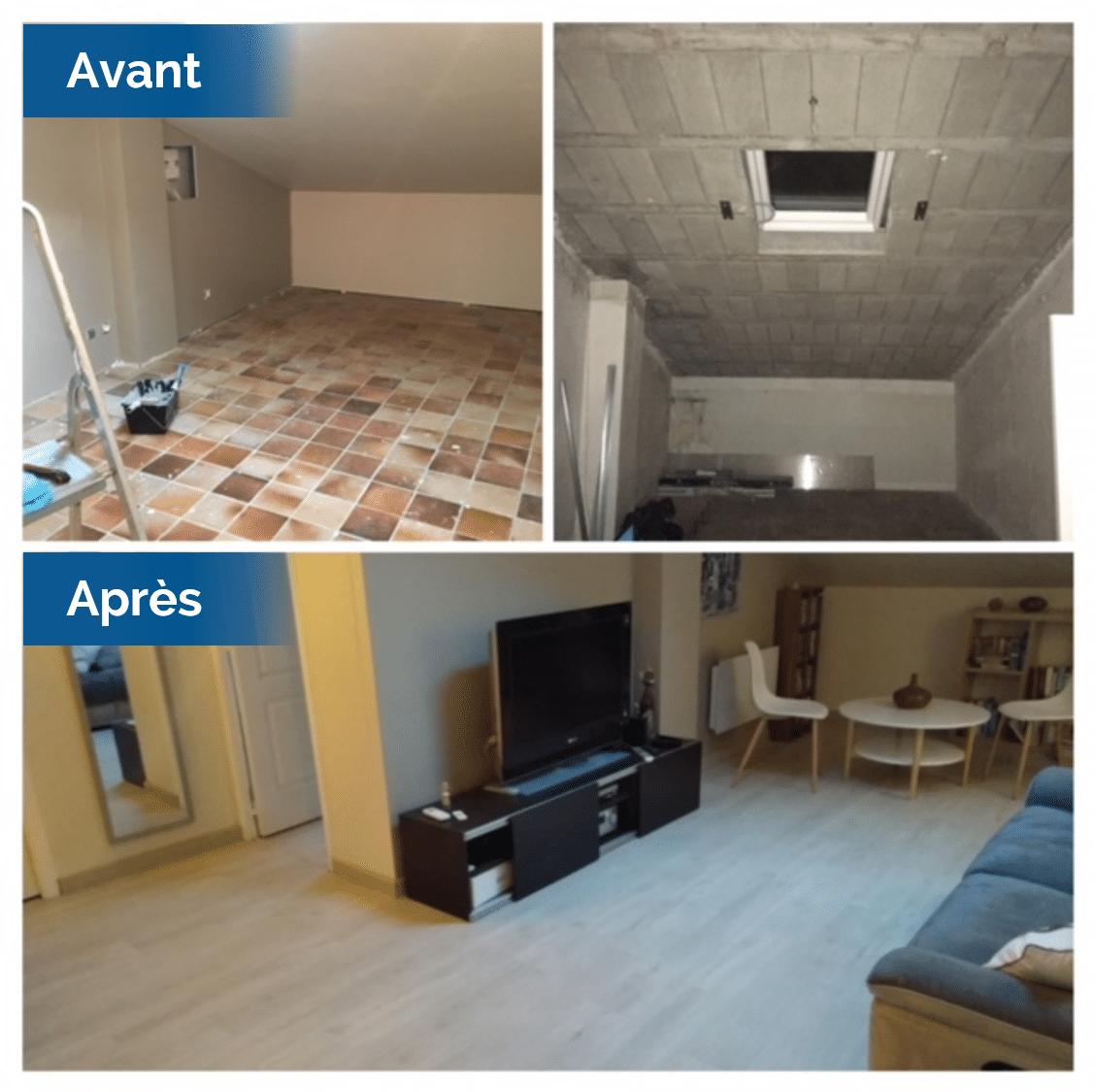 Aménagement des combles d'une maison à Baho, près de Perpignan (66)