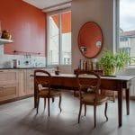rénovation appartement Lyon : cuisine avec table à manger