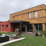 rénovation façade crépi bardage bois pergola bioclimatique Grenoble