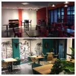 restauration d'un restaurant à Perpignan : avant / après