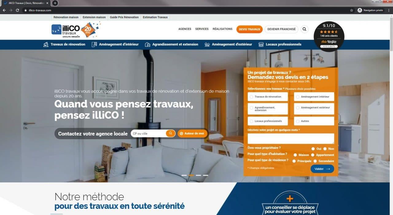 réseau illiCO travaux - site internet