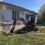 Terrasse existante en cours de démolition - Olivet (45)