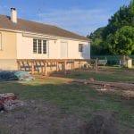 création d'une terrasse en bois sur pilotis - Olivet (45)