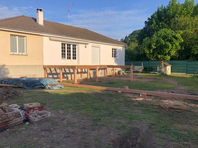 Création d'une terrasse en bois à Olivet (45)