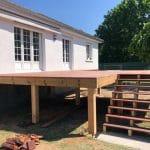 Création d'une terrasse en bois à Olivet - terrasse en hauteur