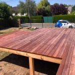 Zoom sur le bois choisi pour une terrasse à Olivet (45)