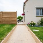 aménagement extérieur à Soissons - allée aménagée