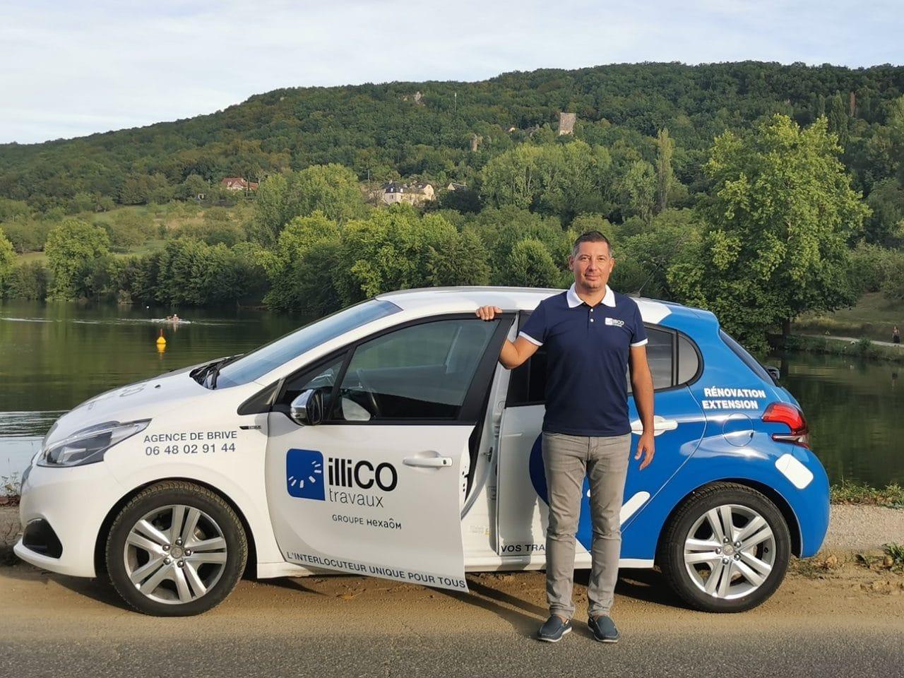 Cédric Breton responsable illiCO travaux Brive - voiture