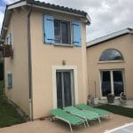 extension maison étage menuiserie porte fenêtre volet crépi Tassin-la-Demi-Lune