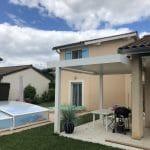 extension maison appartement étage façade crépi piscine terrasse Tassin-la-Demi-Lune