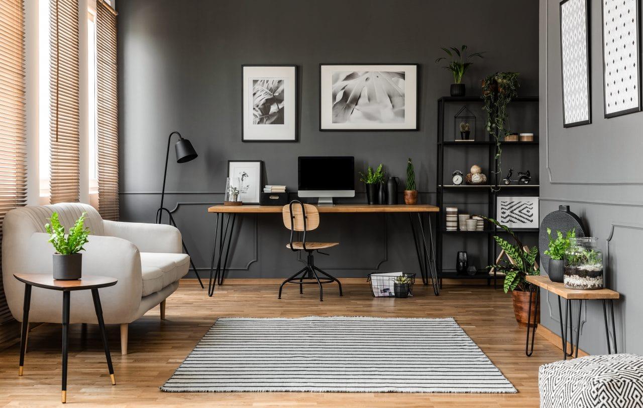 extension maison Angers : intérieur / salon / bureau
