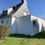 extension maison garage toit plat menuiserie fenêtre crépi blanc Saint-Avé
