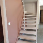 rénovation cage d'escalier revêtement peinture reprise placoplâtre Angoulême